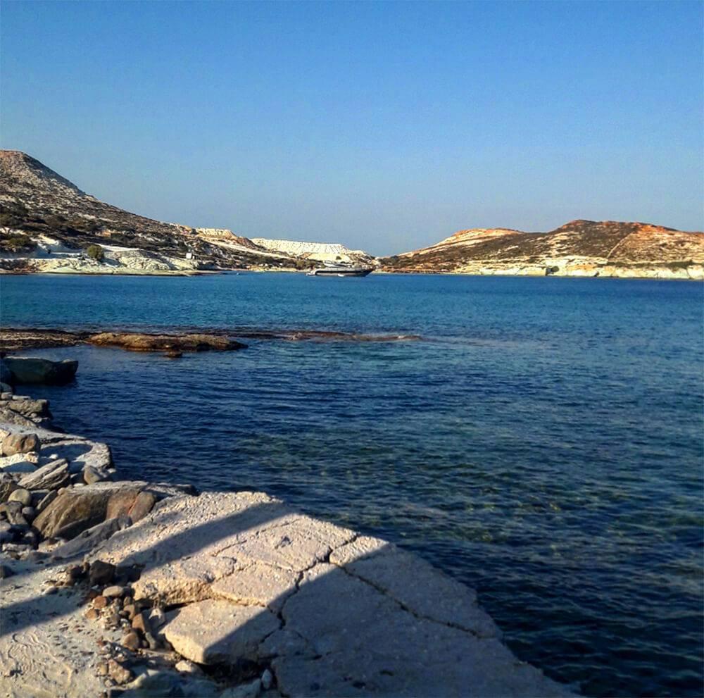 Κίμωλος: παραλία Πράσα